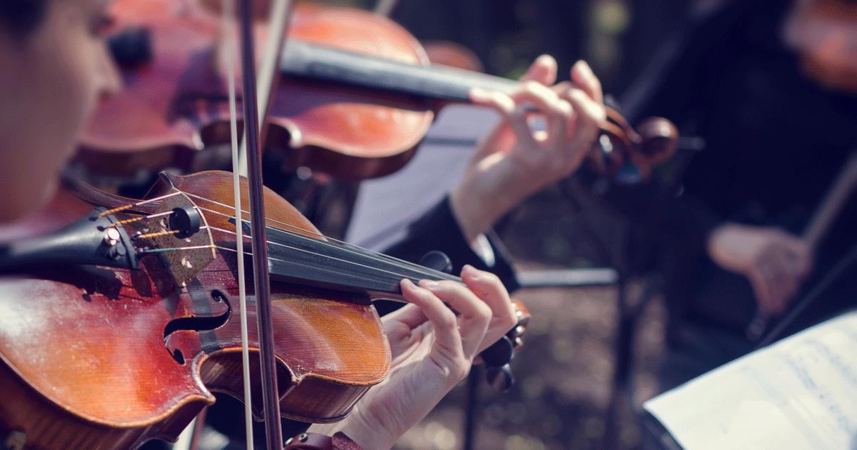 Deux joueurs de violon en répétition