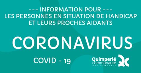 Covid-19, information aux personnes en situatuin de handicap