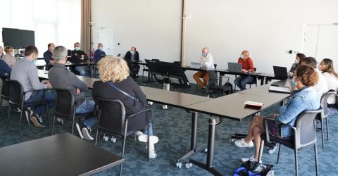 Rencontre avec un panel représentatif de commerçants du territoire au siège de Quimperlé Communauté