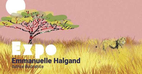 Affiche de l'exposition Emmanuelle Halgand