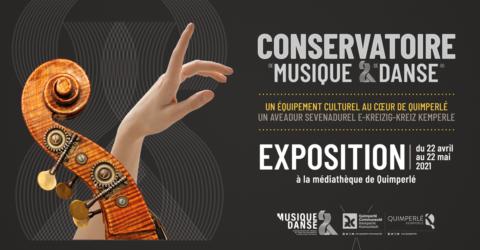 Affiche de l'exposition sur le nouveau conservatoire de musique et de danse
