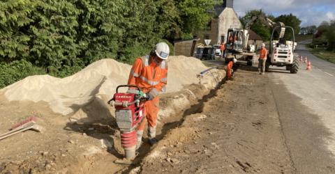 Réalisation des canalisations d'eau potable pour relier les réseaux d'Arzano et Guilligomarc'h